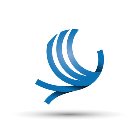 Vector abstracte logo vogels tijdens de vlucht