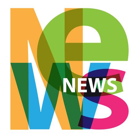 news background: Vector News. Broken text