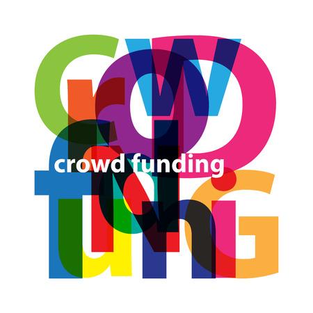 funding: Vector crowd funding. Broken text