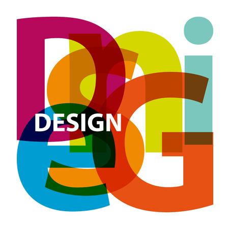 Vector Design. Gebroken tekst