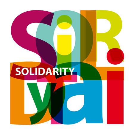solidaridad: Vector solidaridad. Texto roto
