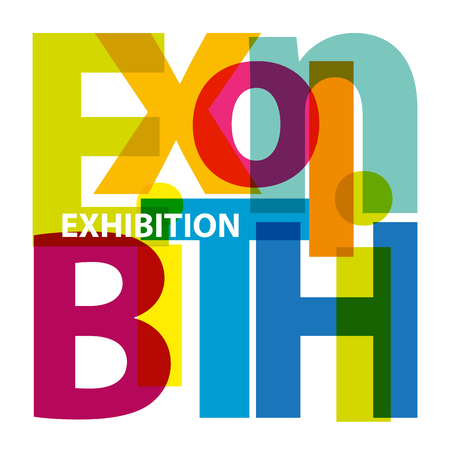exhibitions: Vector exhibition. Broken text Illustration