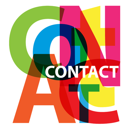 call me: Vector Contact. Broken text Illustration