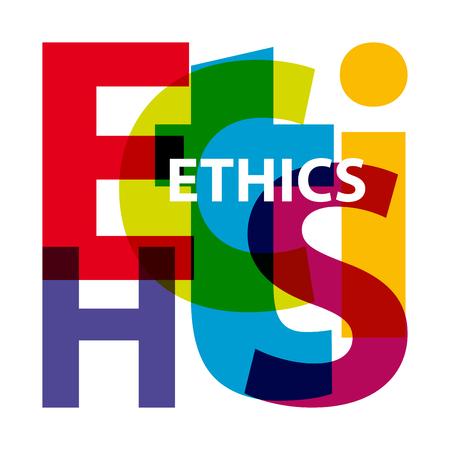 Vector Ethik. Gebrochene Text Standard-Bild - 45509092