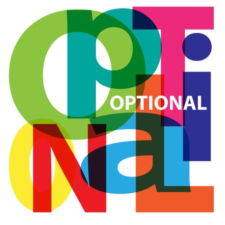 optional: Vector Optional. Broken text
