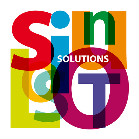 solutions: Vector solutions. Broken text Illustration