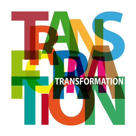 Vector Transformation. Gebrochene Text