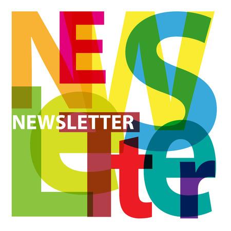 an example: Vector Newsletter. Broken text Illustration