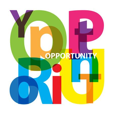 opportunity: Vector opportunity. Broken text
