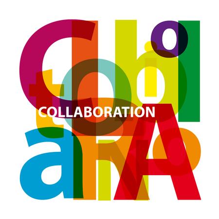 collaboration: Vector collaboration. Broken text