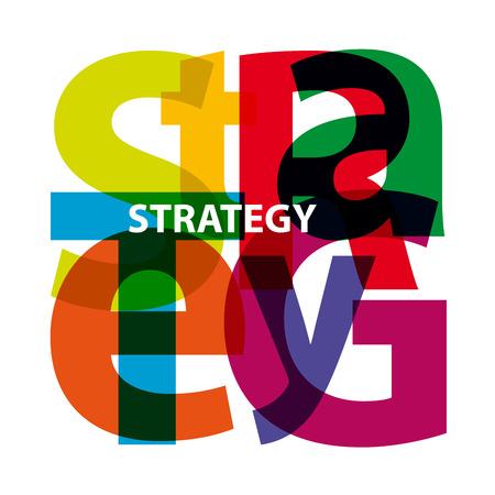 broken strategy: Vector strategy. Broken text Illustration