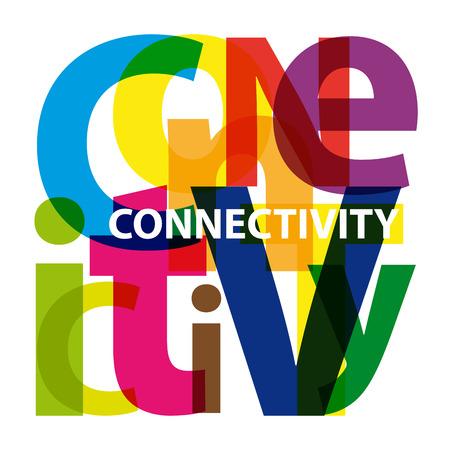 conectividad: Conectividad Vector. Texto roto