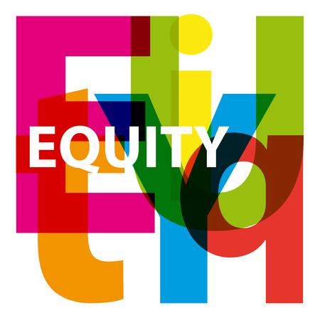 equidad: Vector equidad. Texto roto
