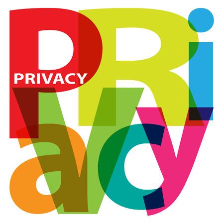 an example: Vector Privacy. Broken text Illustration