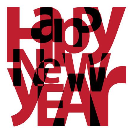 happy new year text: Text Happy New Year
