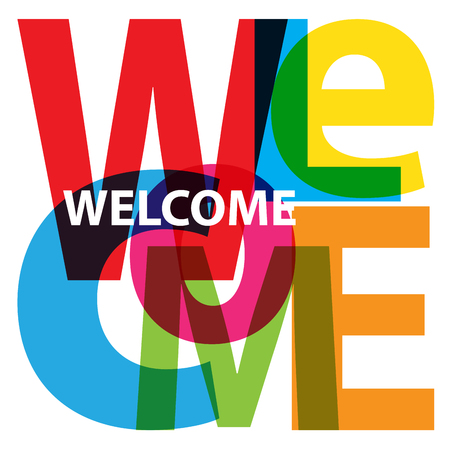 Vector Welcome. Broken text Ilustracja
