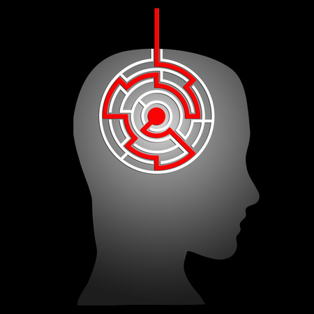 dispersed: mental labyrinth Stock Photo