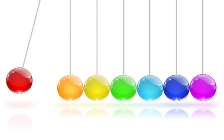 Pendulum of colored glass