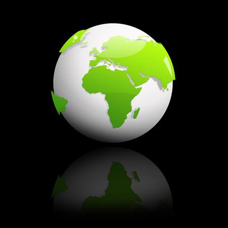 green globe: Abstract green globe