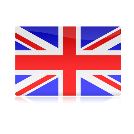 english flag: glossy english flag