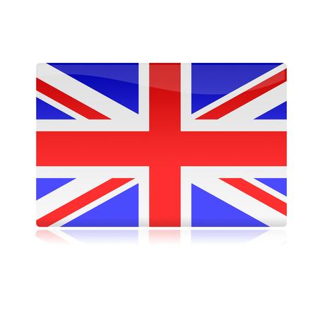 bandera inglesa: Inglés bandera brillante Foto de archivo