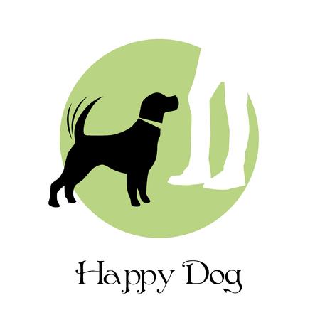 ベクトル記号幸せな犬