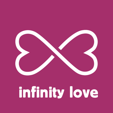 heart symbol: Vector sign infinity love