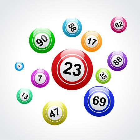 Vector bingo background
