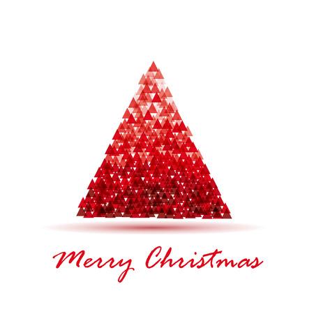 plastic christmas tree: Greeting of Christmas. Abstract Christmas tree Illustration