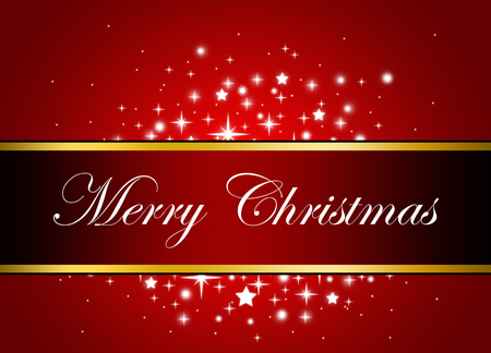 merry christmas: Red Banner Merry Christmas
