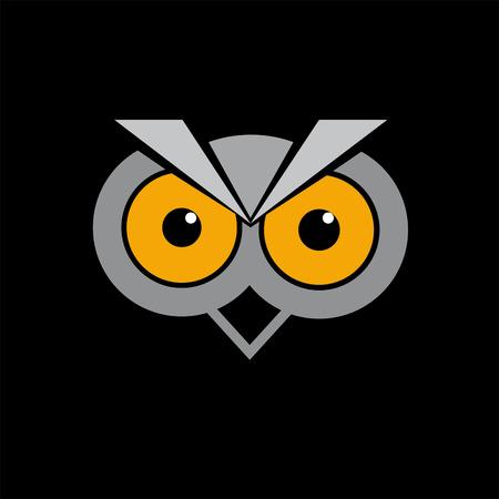 ベクトル記号抽象的なフクロウ