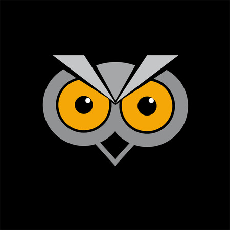 dignity: Vector sign abstract Owl
