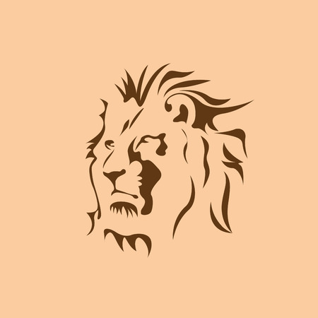 pompous: Vector sign brown lion
