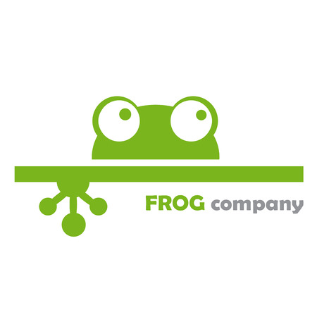 frog: Vector sign frog company