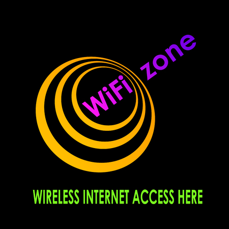 wireless terminals: Vector sign  wi-fi zone