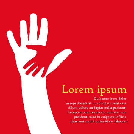 Vector cover two hands, help and solidarity Zdjęcie Seryjne - 46484018