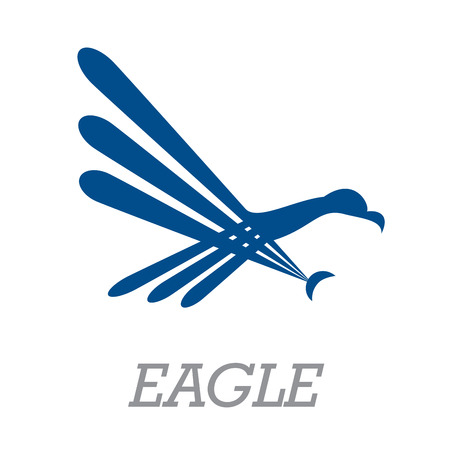 rapacious: Vector sign abstract simple eagle