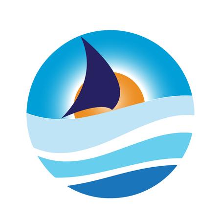 sailing ship: Vector sign sailing ship Illustration