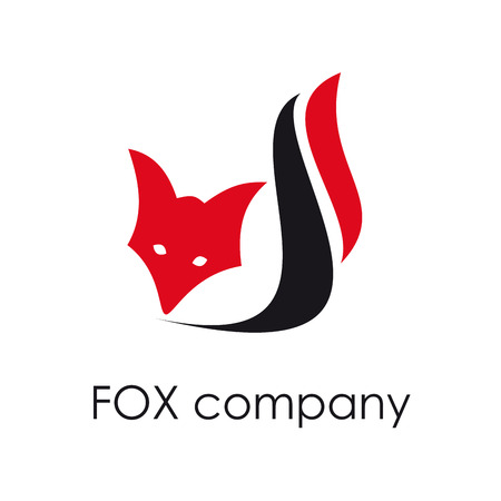 burglar alarm: Vector sign Fox. Concept of cunning