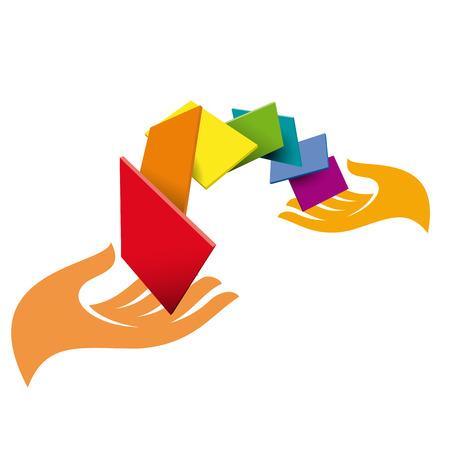 idea generation: Vector sign Hands and pixels
