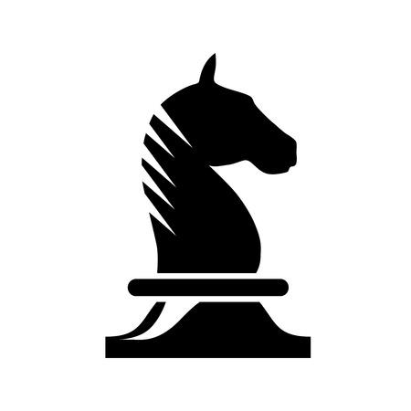 carreras de caballos: Vector firmar caballo de ajedrez