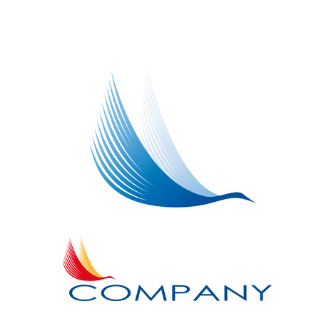 logotipo turismo: Vector Regístrate cigüeña abstracta