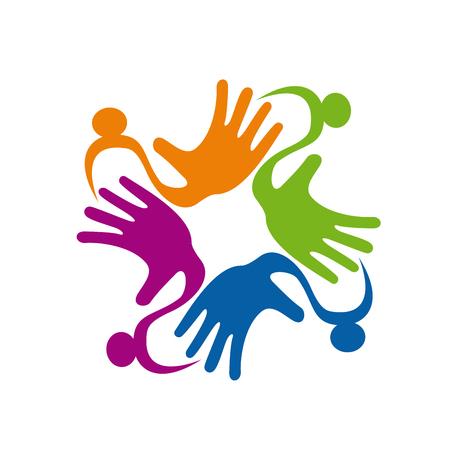 Vector sign Colorful Teamwork rainbow Illustration