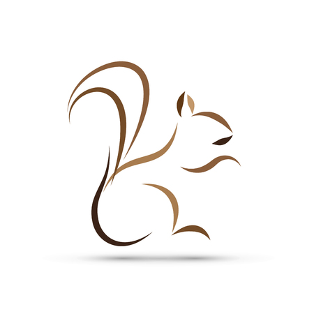 spiteful: Vector sign abstract squirrel Illustration