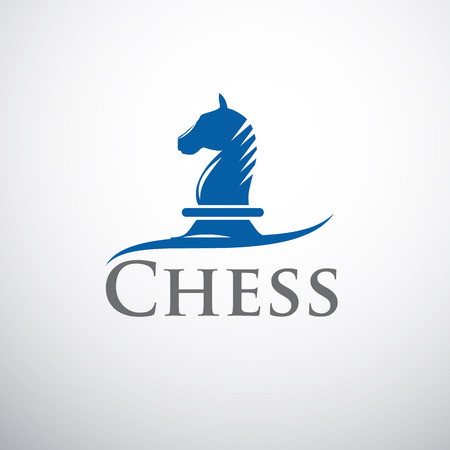 chess player: Vector sign horse of chess