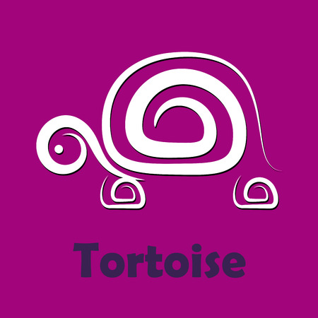 tortoise: Vector sign Tortoise, slow company Illustration