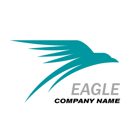 travel logo: Vector Logo eagle in flight