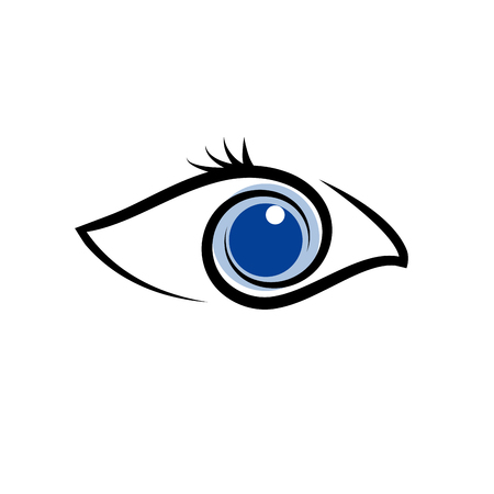 blue eye: Vector sign head of bird and fish