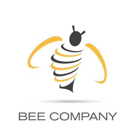 abeja: Vector Reg�strate Bee Company Vectores