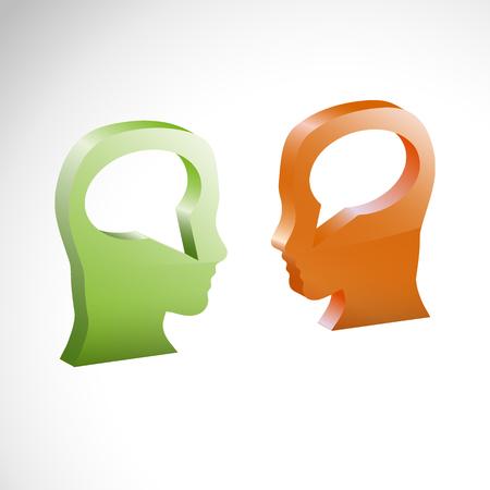 gossiping: Vector illustration Comparison of torque, exchange of views Illustration